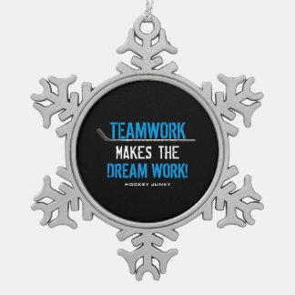 TEAMWORK PEWTER SNOWFLAKE DECORATION