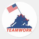 Teamwork Round Sticker