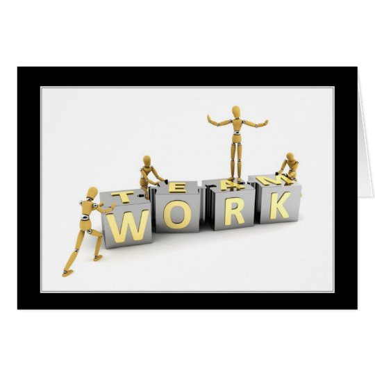 Teamwork - Thank you card