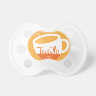 TeaOlo Brewing Smiles Orange Fit BooginHead Pacifier