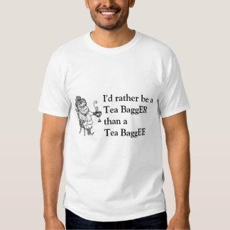 teaparty, I'd rather be a Tea BaggERthan a Tea ... T-shirts