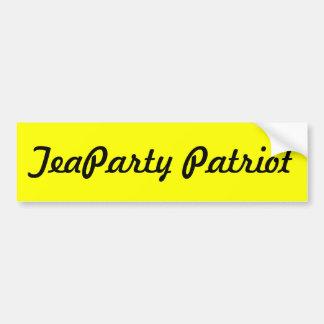TeaParty Patriot Bumper Sticker