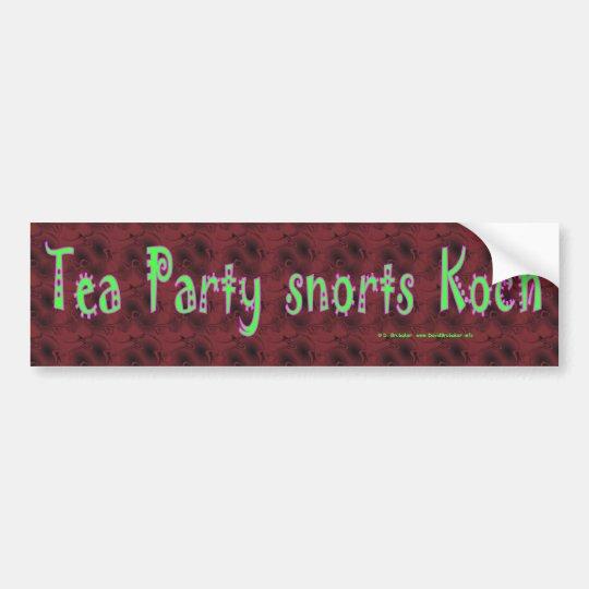 TeaPartySnortsKoch Bumper Sticker