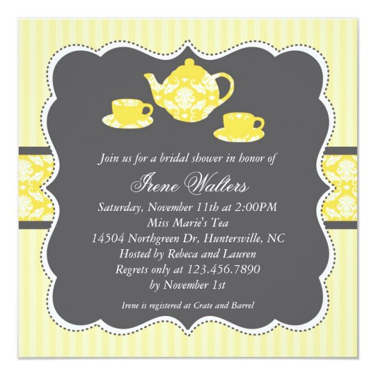 Teapot Bridal Shower Invitation