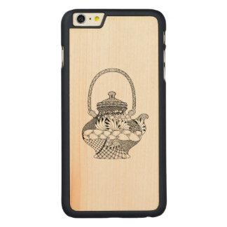Teapot Doodle Carved® Maple iPhone 6 Plus Case
