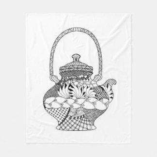 Teapot Doodle Fleece Blanket