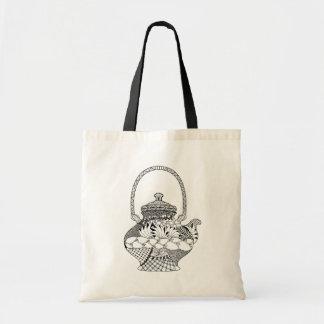 Teapot Doodle Tote Bag