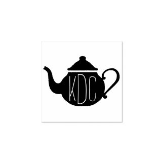 Teapot Monogram Art Stamp