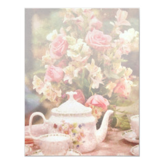 Teapot - More tea Milady 11 Cm X 14 Cm Invitation Card