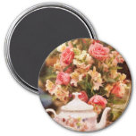 Teapot - More tea Milady 7.5 Cm Round Magnet