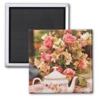 Teapot - More tea Milady Square Magnet