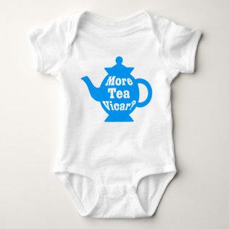 Teapot - More tea Vicar? - Mid Blue and White Tee Shirt