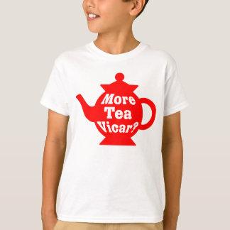 Teapot - More tea Vicar? - Red and White Tshirt