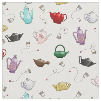 Teapot Pattern Fabric