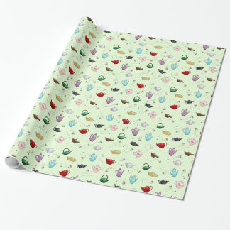 Teapot Pattern Wrapping Paper