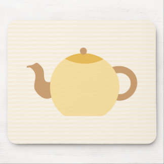 Teapot Picture in Neutral Colors. Mousepads