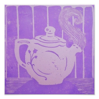 Teapot Poster, 12 x 12 Inches Poster