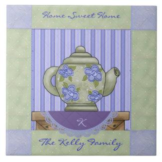 Teapot Quilt Square Decorative Tile