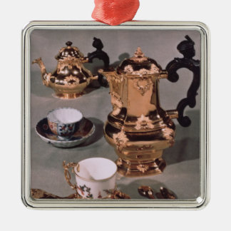 Teapot, sugar bowl, chocolate pot and mug christmas ornament
