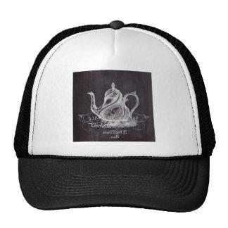 teapot vintage Chalkboard bridal shower tea party Trucker Hat