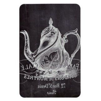 teapot vintage Chalkboard bridal shower tea party Flexible Magnet