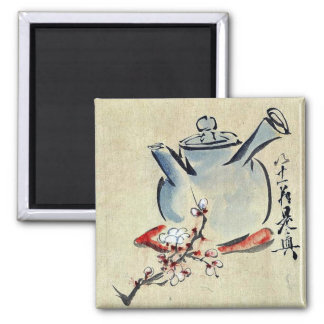 Teapot with cherry or plum blossoms Ukiyoe Magnet