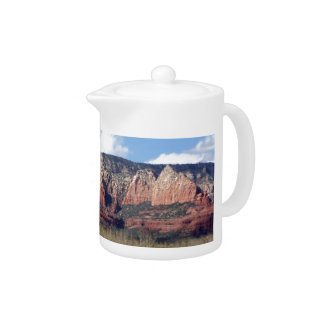 teapot with photo of Arizona red rocks