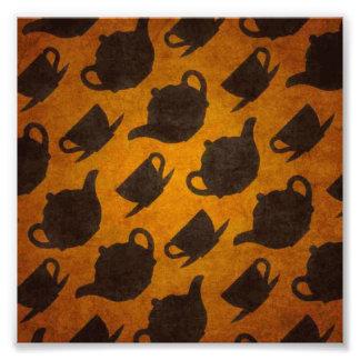 Teapots Cups Design Symbol Texture Pattern Photo Print