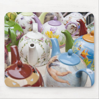 Teapots on sale in Leipzig, Germany Mouse Mat