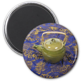 TeapotSilkScarf081210 6 Cm Round Magnet