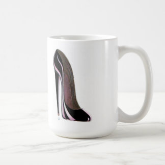 Tear drop and black stiletto shoe coffee mug