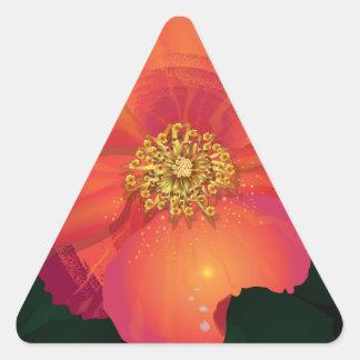 Tear Drop Flower Triangle Sticker