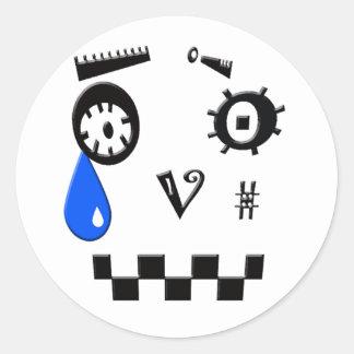 Tear Drop Round Sticker