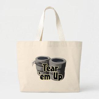 Tear 'em Up Jumbo Tote Bag