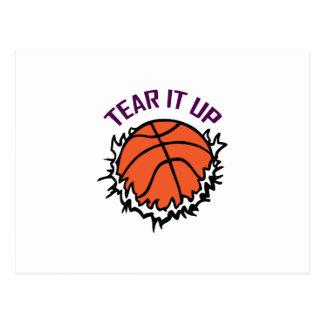TEAR IT UP BASKETBALL POSTCARD