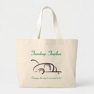 Teardrop Trailers Green Version Large Tote Bag