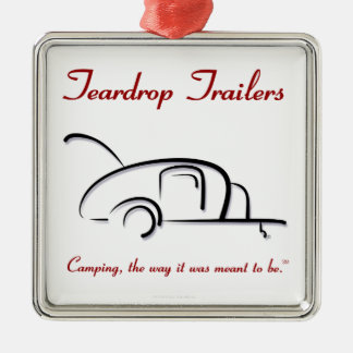 Teardrop Trailers Red Version Christmas Ornament