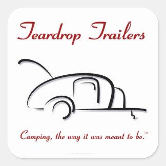 Teardrop Trailers Red Version Square Sticker