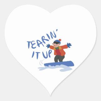 Tearing it up heart sticker