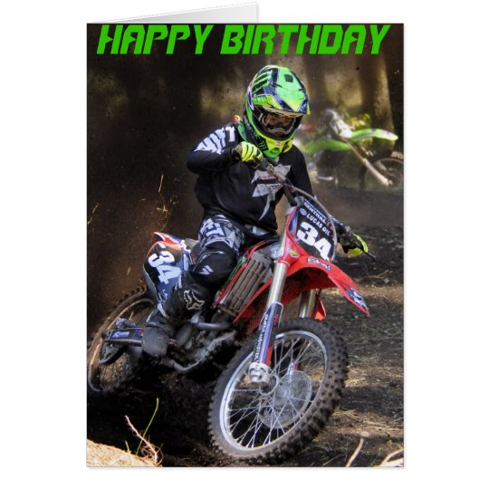 Tearing up the track Birthday card