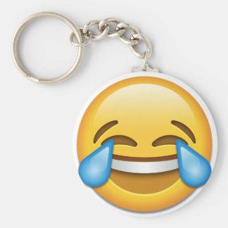 Tears of Joy emoji funny Basic Round Button Key Ring