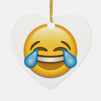 Tears of Joy emoji funny Christmas Ornament