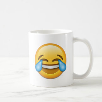 Tears of Joy emoji funny Coffee Mug