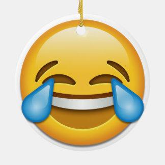 Tears of Joy emoji funny double side ornament