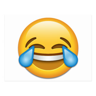 Tears of Joy emoji funny Postcard