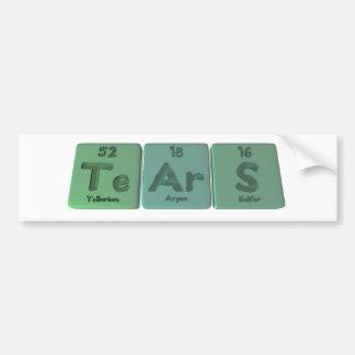 Tears-Te-Ar-S-Tellurium-Argon-Sulfur.png Bumper Sticker
