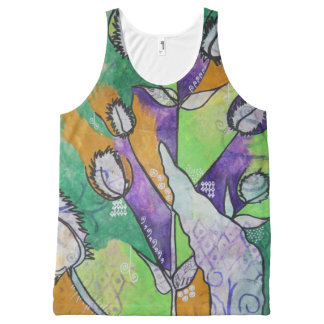 Teasel and Dock Leaf Tank Top All-Over Print Tank Top