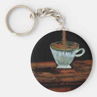 Teatime Basic Round Button Key Ring