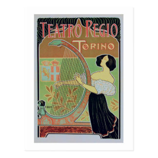 Teatro Regio Torino ( Royal Theater ) Postcard