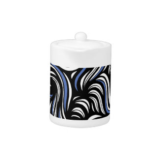 Tebo Abstract Expression Blue White Black